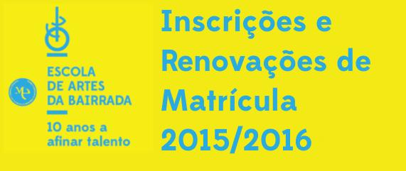 inscrições 2015-2016